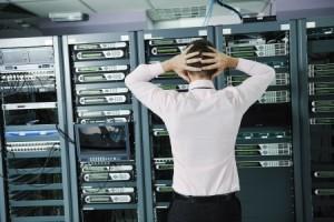 server room technician distress